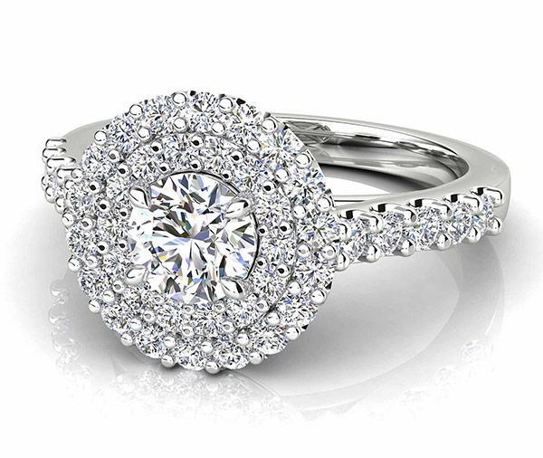 Bella Rose double halo diamond ring