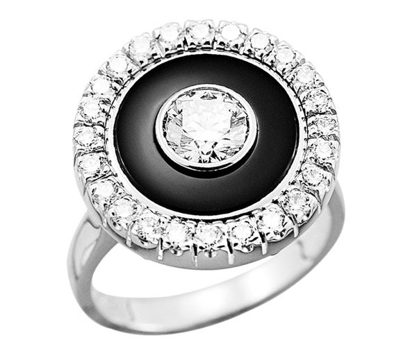 Black Magic - Diamond & onyx dress ring