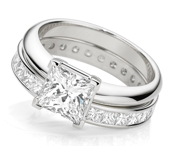 Brilliant Princess Forever princess cut wedding band