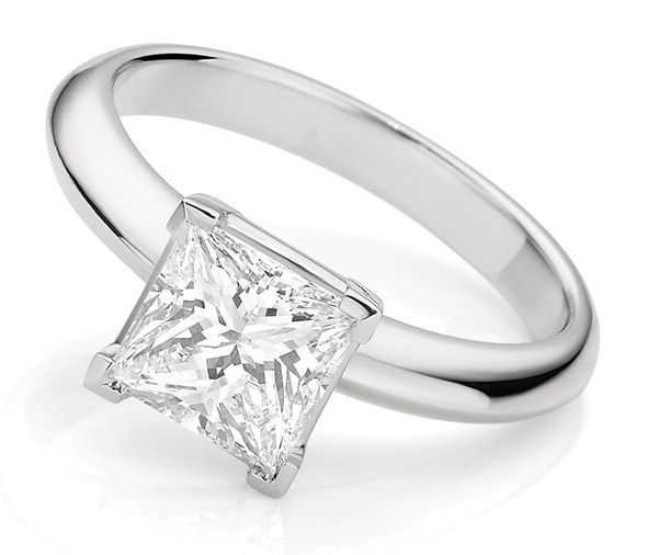 Brilliant Princess diamond engagement ring