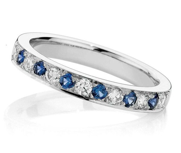 Forever Romance Blue ceylon sapphires and diamonds ring