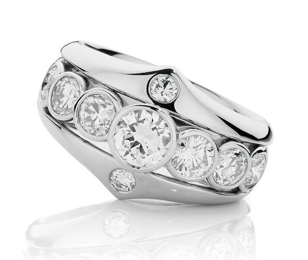 Crowning Glory white gold dress ring