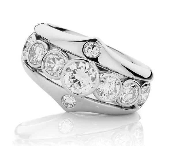Crowning Glory white gold dress ring