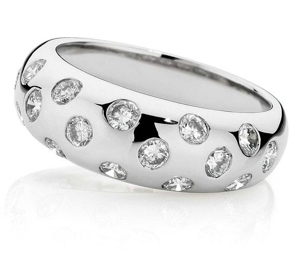Disco diamond dress ring