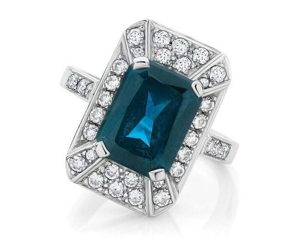 Elizabeth - Art Deco Australian sapphire Ring