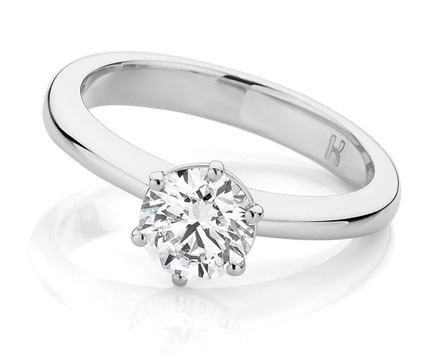 Emily Fine wire solitaire diamond ring