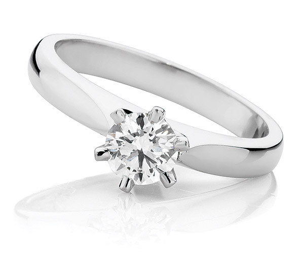 Emma solitaire engagement ring
