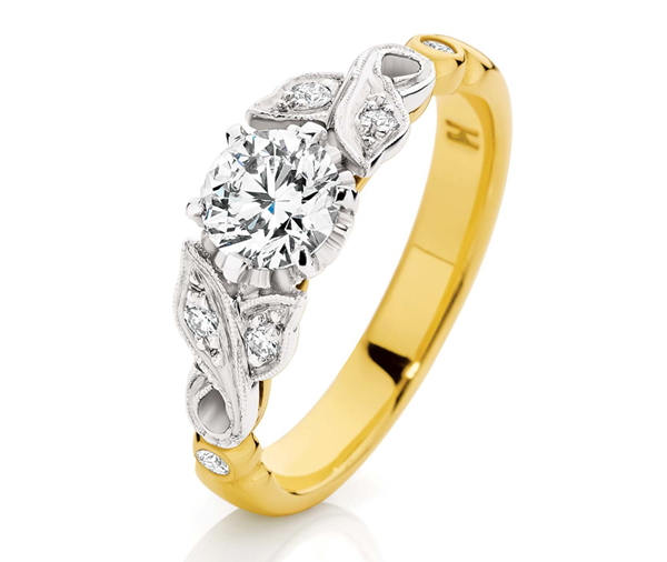 Golden Rumba engagement ring