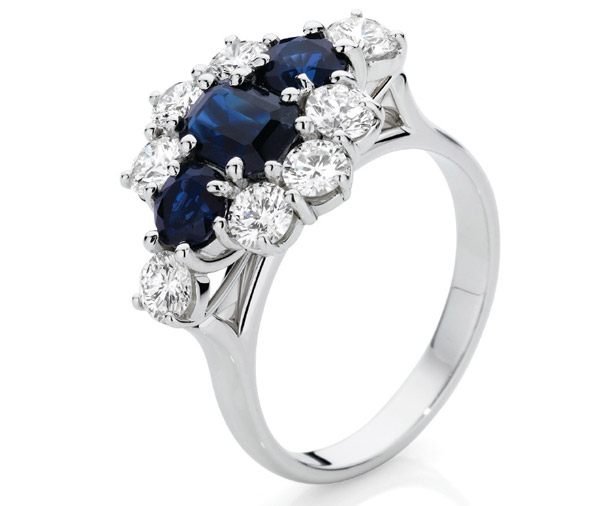 Kate Ring sapphire & diamond cluster