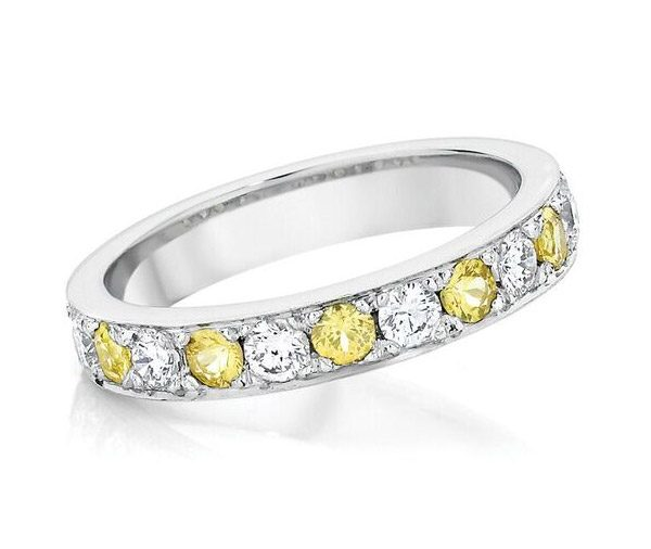 Mello Yello - Yellow Sapphire and Diamond Band