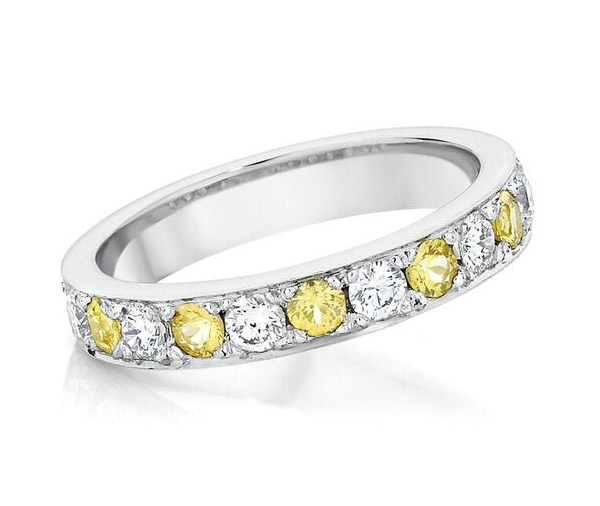 Mello Yello - Yellow Sapphire and Diamond Band