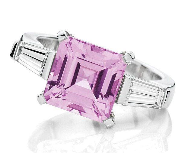 Pink Ice - Kunzite and Diamond Dress Ring