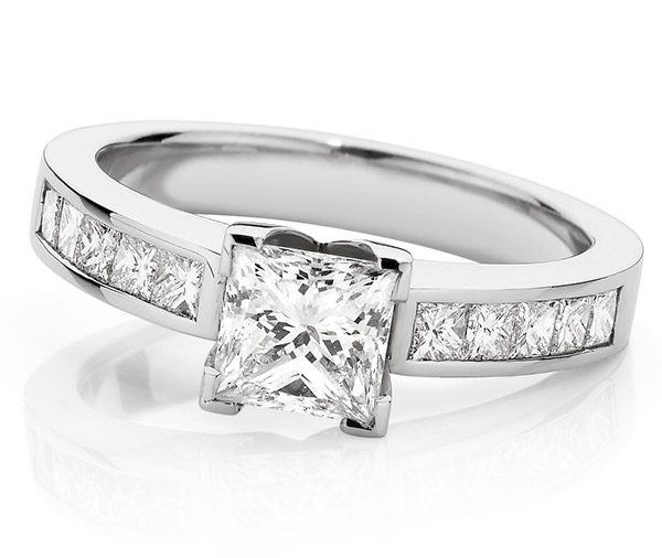 Princess Dreams diamond engagement ring