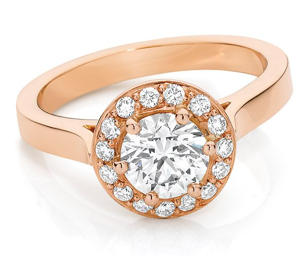 Rose Radiance diamond engagement ring