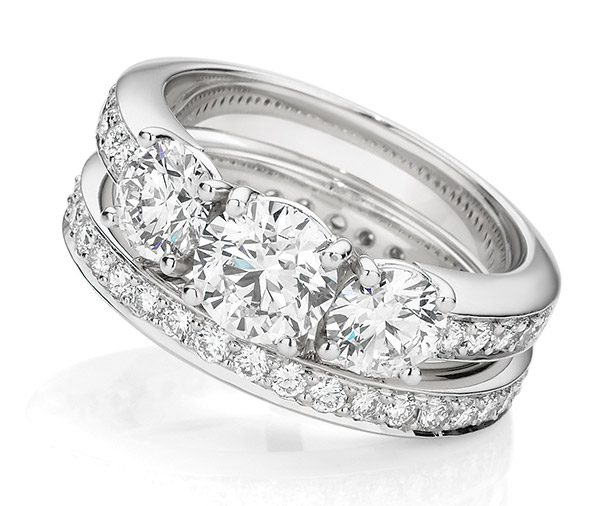 Round Robin Forever diamond wedding ring