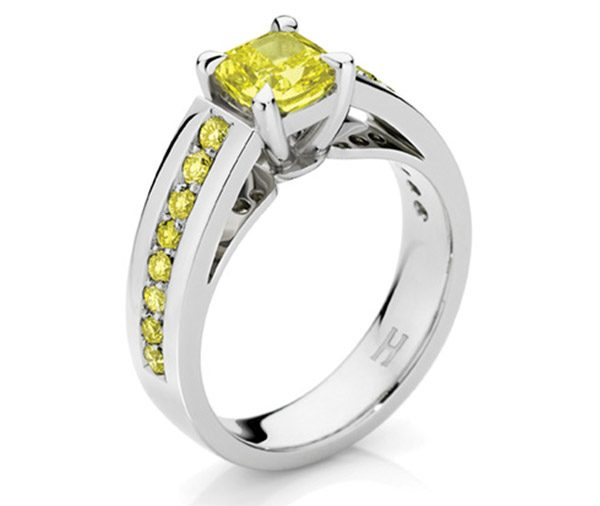 Sundance Yellow diamond engagement ring