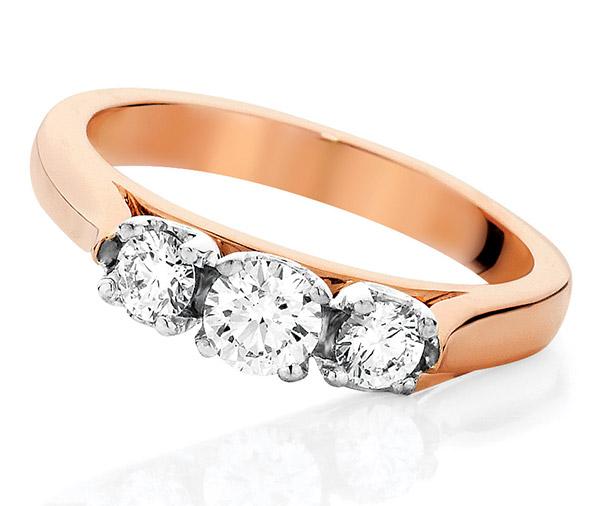 Three Sisters 3 stone diamond ring