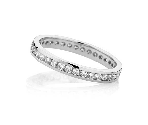 Eternity Channel diamond wedding band