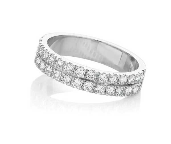 Forever Double Nova diamond wedding band