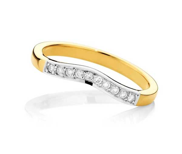 Forever Fitting Fitted mixed metal diamond wedding band