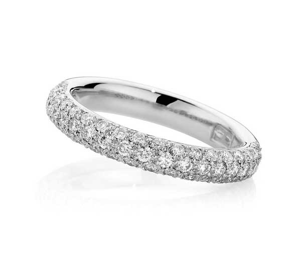 Forever Pave diamond wedding band