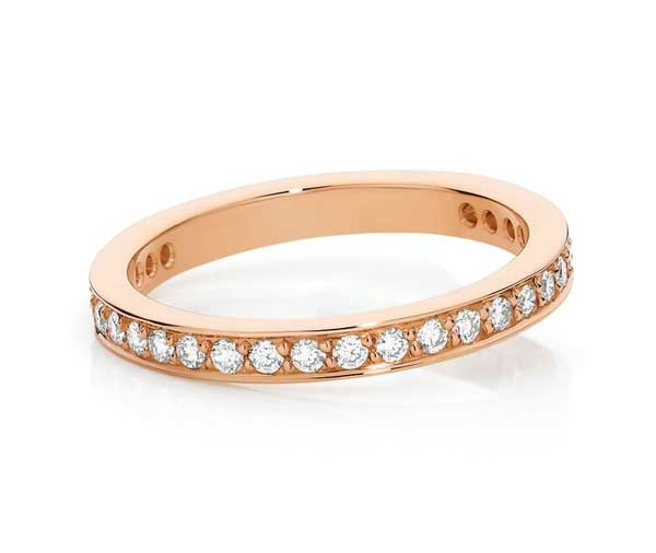 Forever Rose diamond grain set wedding band