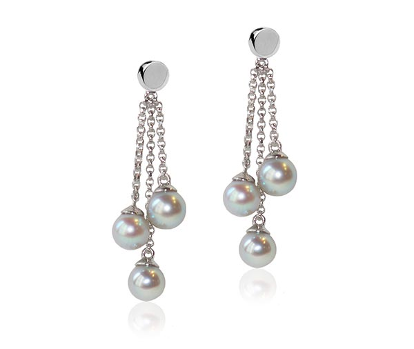 Akoya Falls Earrings diamond jewellery design