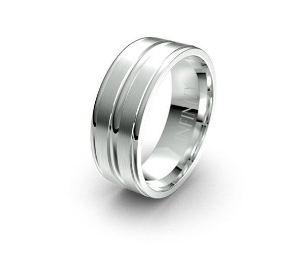 Debonair 1147 mens wedding ring