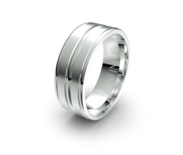Debonair 1147 mens wedding ring