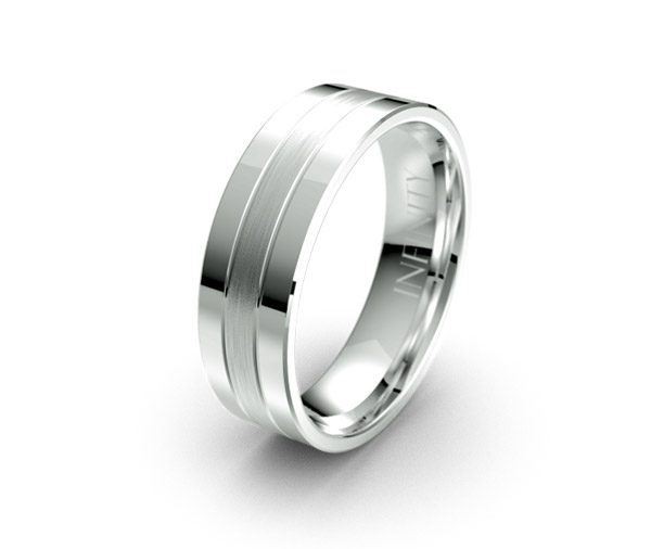 Debonair 1278 mens wedding ring