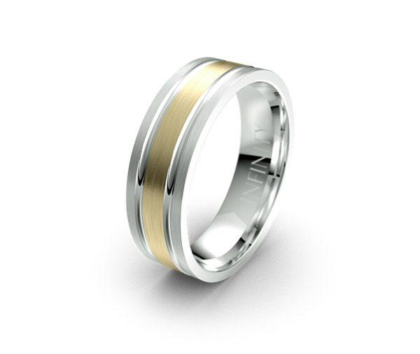 Debonair 1398 mens designer wedding ring