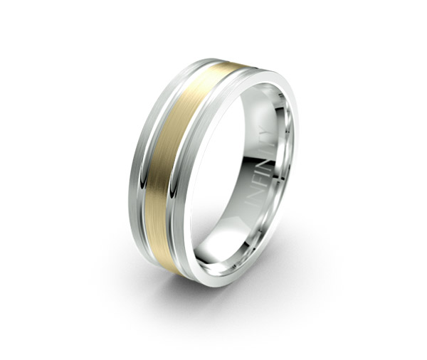 Debonair 1398 mens designer wedding ring