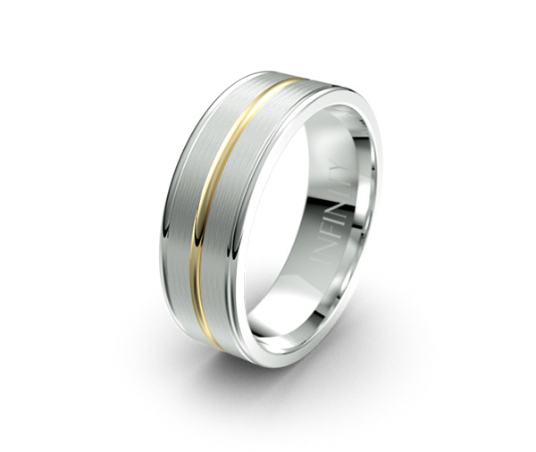 Debonair 1418 mens wedding ring