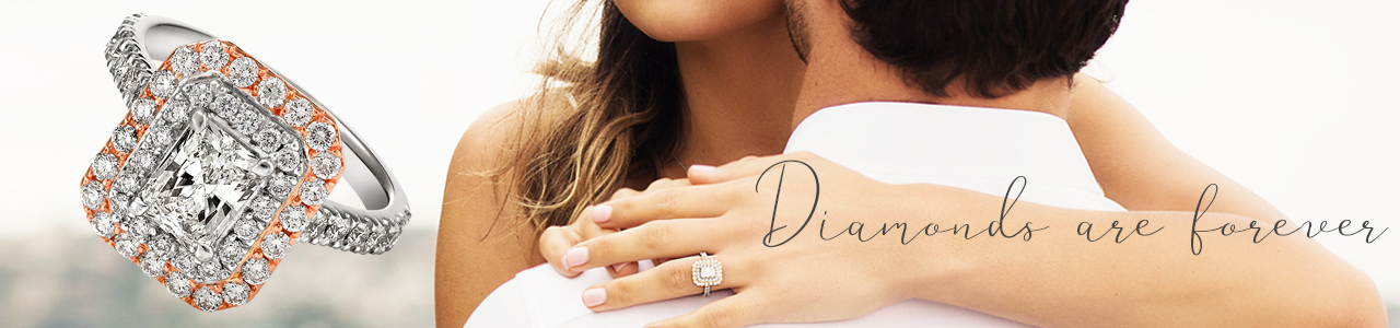elegantly designed diamond engagement rings
