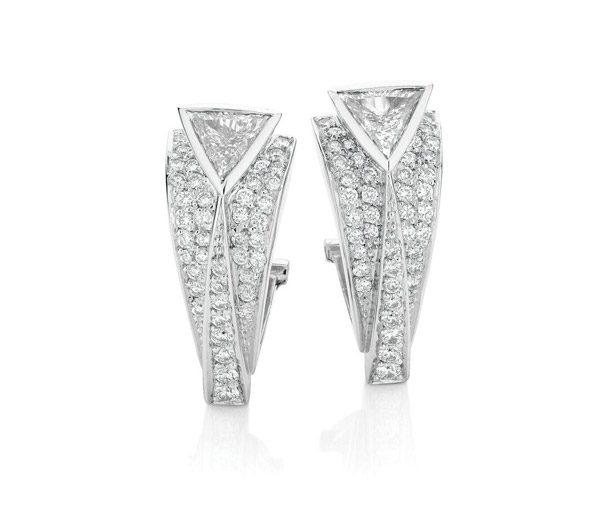 Iconic Deco Diamond Earrings: art deco diamond earrings