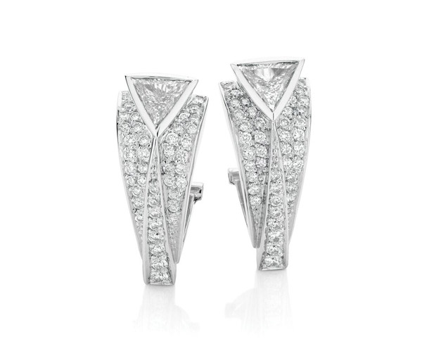 Iconic deco earrings diamond earrings