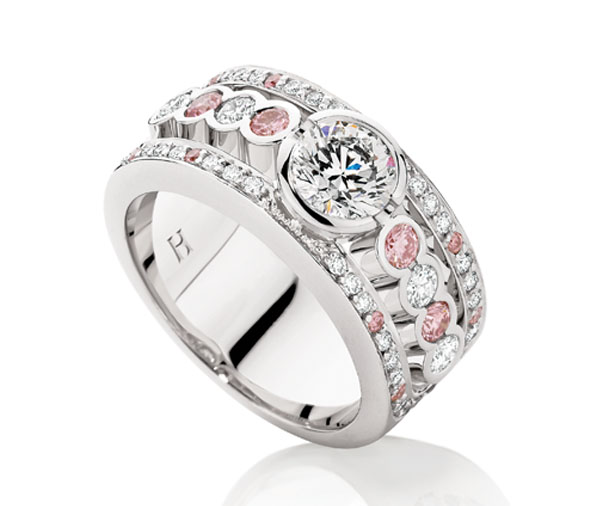 Iconic Pink & White Diamondwide Ring