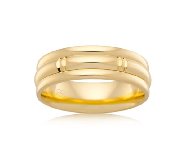 Urban J2106 mens gold wedding ring