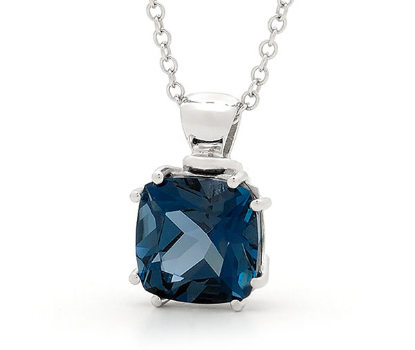 London Blue Topaz Claw Set Pendant
