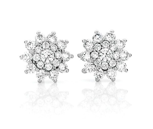 Starburst Earrings cluster studs