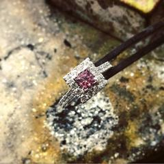 Pink Diamond Engagement Ring